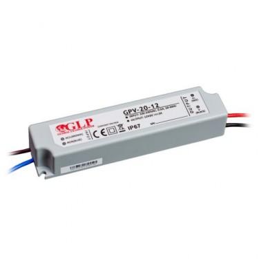 Zasilacz LED GPV 12V 20W Hermetyczny