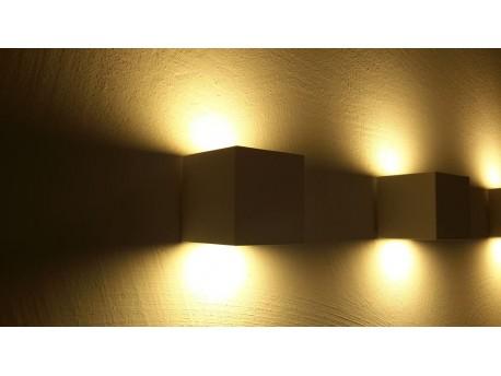 KUBIK - lampa ścienna 2-kierunkowa White