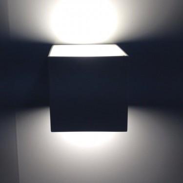 KUBIK - lampa ścienna 2-kierunkowa Black