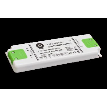 Zasilacz LED 350mA 30-56V 20W płaski