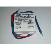 Zasilacz LED mini 12V 6W Płaski