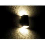 Twin Beam Elevation LED lamp - bidirectional diffusing Graphite