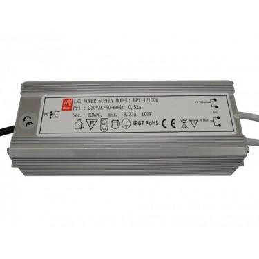 LED Power supply 12V 100W IP67 Alu
