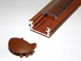Profil LED 2mb drewno palisander klosz klik transparentny