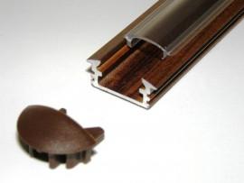Profil LED 2mb drewno wenge klosz klik transparentny