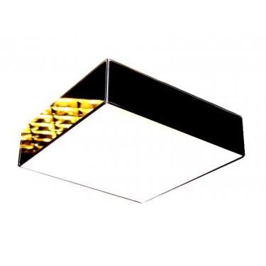 LED Black Glass Ceiling Lamp