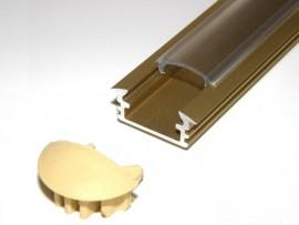 Profil LED wpuszczany złoty matowy 2m