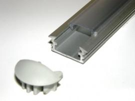 Profil LED wpuszczany srebrny matowy 2m