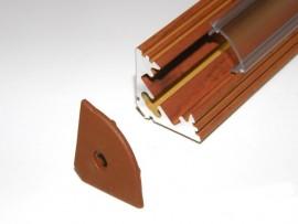 Profil LED 2mb narożny (kątowy) 45 drewno palisander klosz klik mleczny