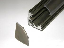Profil LED narożny Inox matowy 2mb