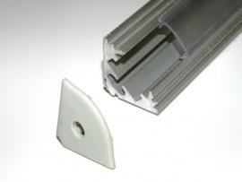 Profil LED narożny Srebrny matowy 2mb