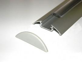 Profil LED nawierzchniowy D1 Srebrny matowy 2mb