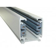 White 1,5-meter Linear Track Lighting Section 3-phase
