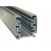 Silver 2-meter Linear Track Lighting Section 3-phase