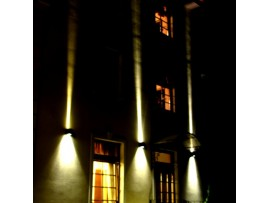 Twin Beam Elevation LED lamp - bidirectional diffusing Black