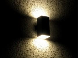 Twin Beam - lampa elewacyjna 2-kierunkowa rozpraszająca Black