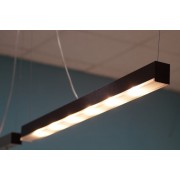 Linear PowerLED light bar lamp 1m graphite brush