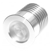 LED turned radiator with screwed cap, 7 ribs, sealable IP67, fi44, H=52, M16 gland screw