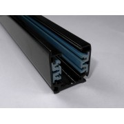 Black 2-meter Linear Track Lighting Section 3-phase