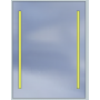Lustro LED Standard 60x80 3360lm 3000K