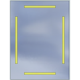 Lustro LED Standard 60x80 4200lm 3000K