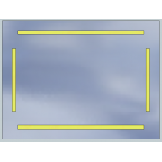 LED mirror Standard 80x60 5040lm 3000K linear flat polished edge