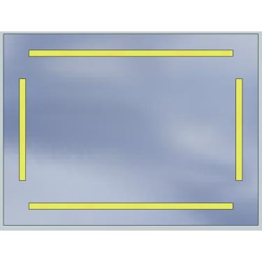 Lustro LED Standard 80x60 5040lm 3000K Liniowe