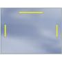 Lustro LED Standard 100x60 1680lm 3000K Liniowe