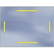 LED mirror Standard 100x60 2520lm 3000K linear flat polished edge