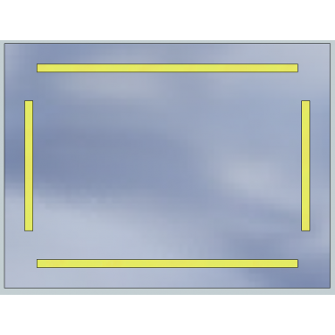 Lustro LED Standard 100x60 5040lm 3000K