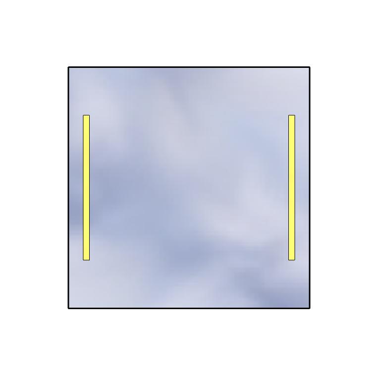 Led Mirror Standard 100x100 1680lm 3000k Linear Flat Polished Edge