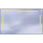 LED mirror Standard 100x60 3360lm 3000K linear flat polished edge