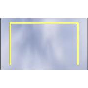 LED mirror Standard 100x60 4620lm 3000K linear flat polished edge