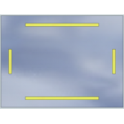 LED mirror Standard 100x60 3360lm 3000K linear flat polished edge
