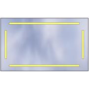 LED mirror Standard 100x60 5880lm 3000K linear flat polished edge