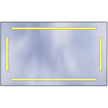 Lustro LED Standard 100x60 5880lm 3000K