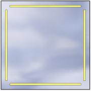 Lustro LED Standard 100x100 8400lm 3000K