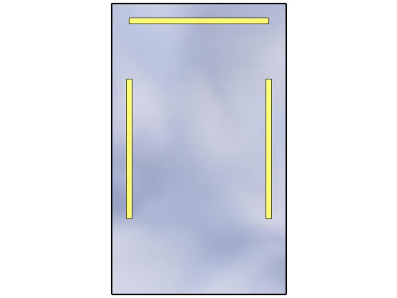 Lustro Z Oświetleniem Led Standard 60x100 3000k Szlif Ledowniapl